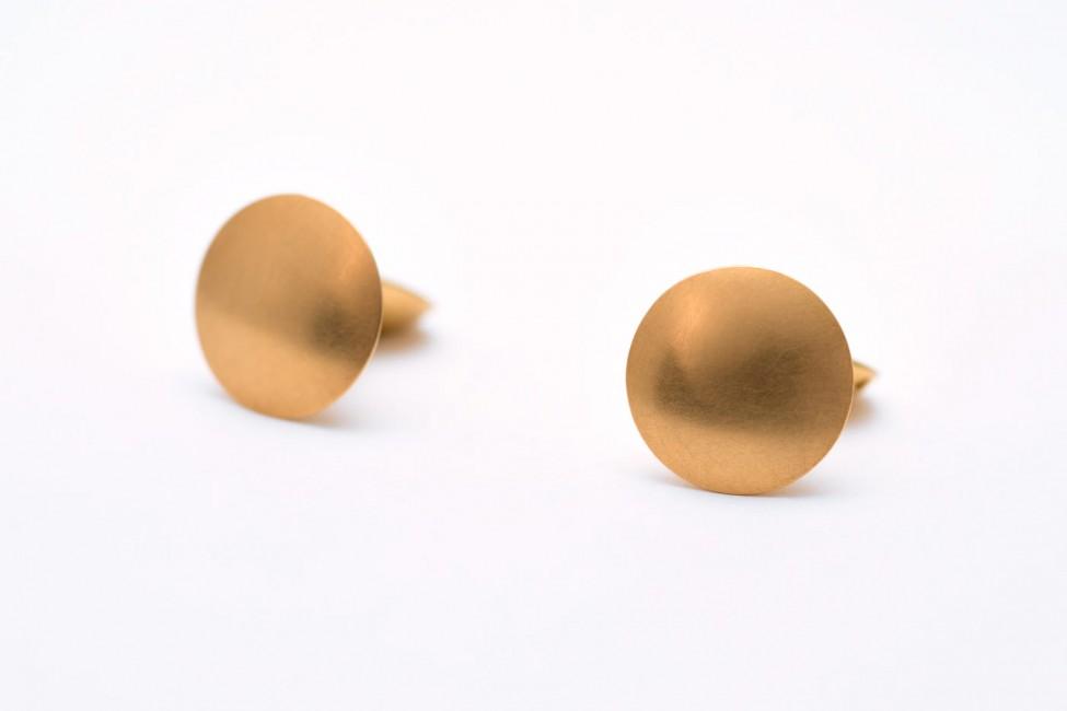 Manschettenknöpfe, 750/-Gelbgold
